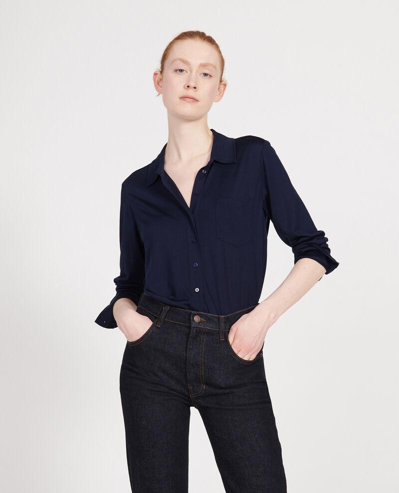 Silk shirt Maritime blue Leanor
