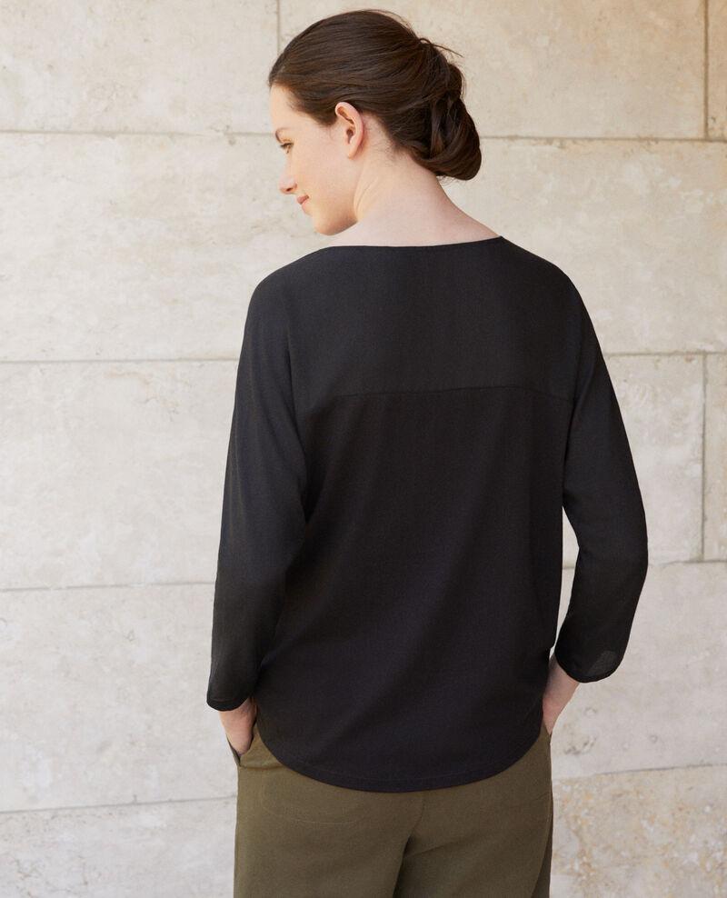 Fabric blend t-shirt Noir Genious