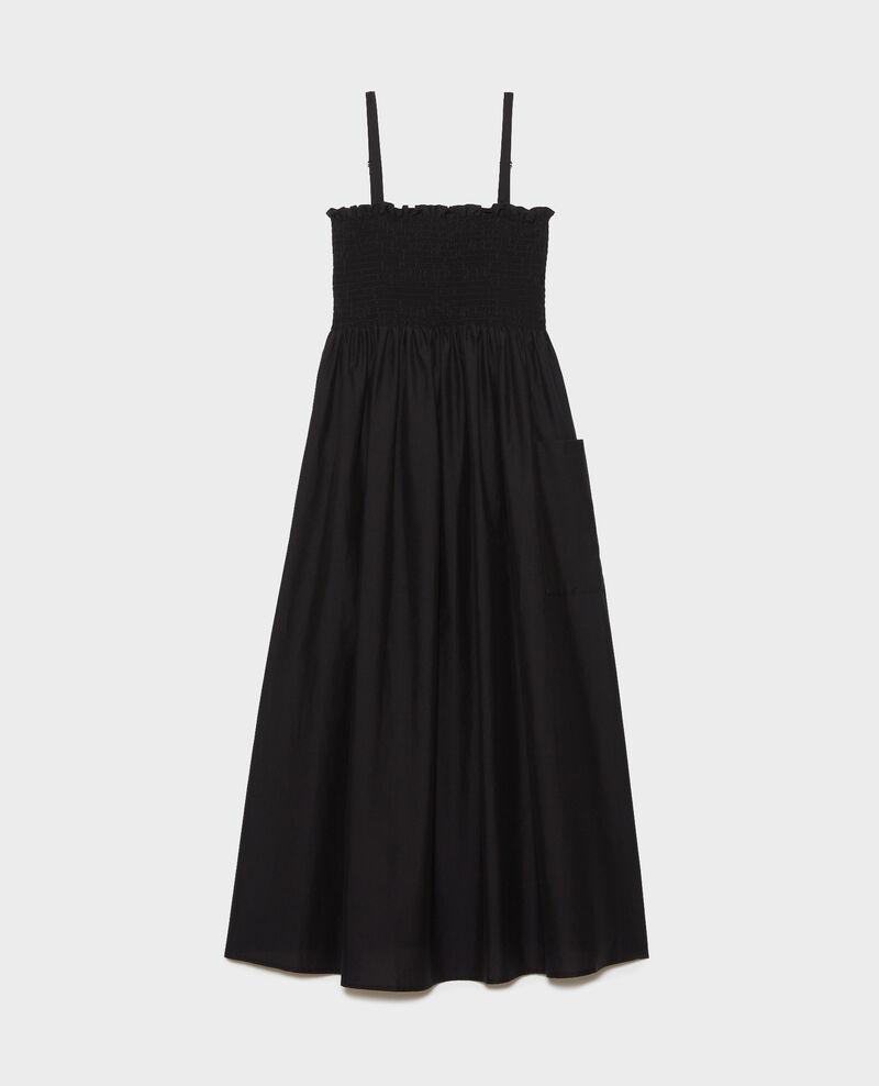 Cotton and silk maxi dress Black beauty Nassandrou