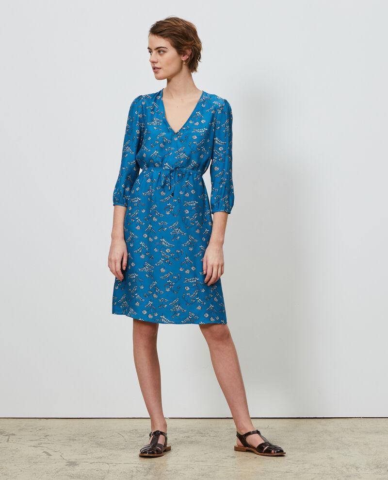 Loose silk dress Coronille faience Novis