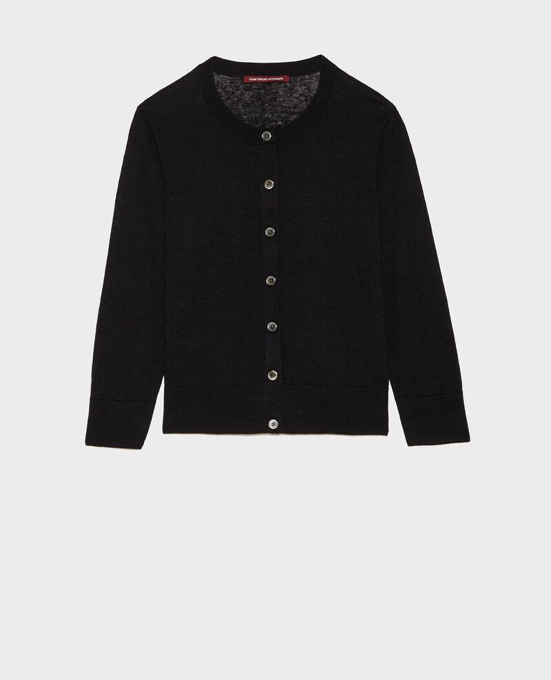 Linen and organic cotton cardigan Black beauty Lagardi