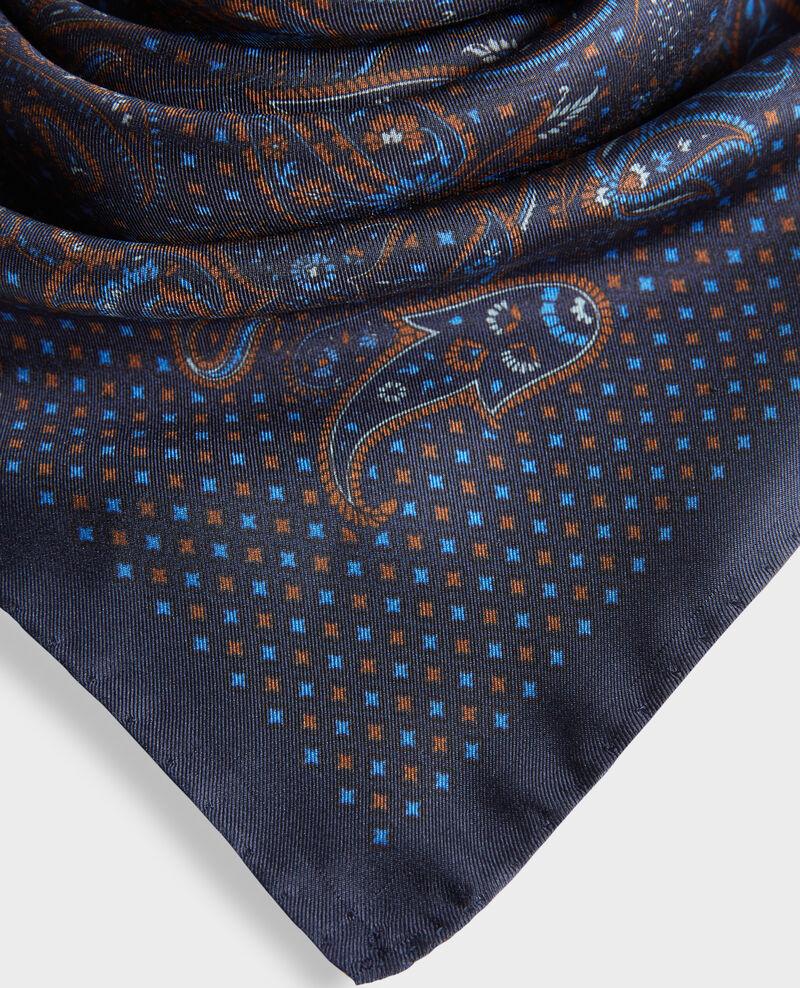 Printed silk scarf Night sky Pachemire