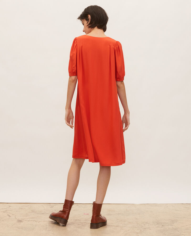 Floaty v-neck silk maxi dress Valiant poppy Manthes