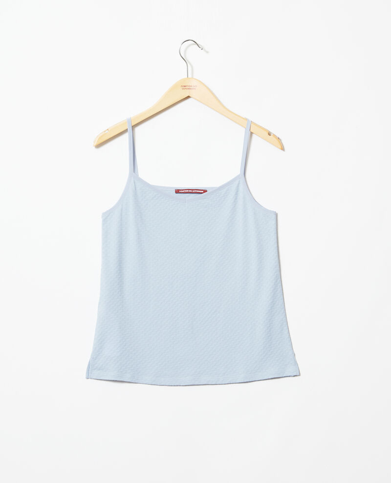 Vest top with spaghetti straps Light blue Gagnant