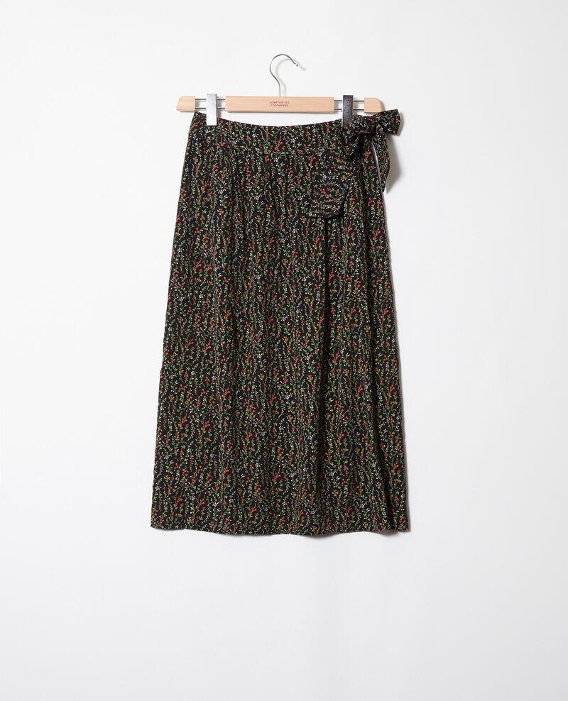 Wrap skirt Daphne noir Jerria