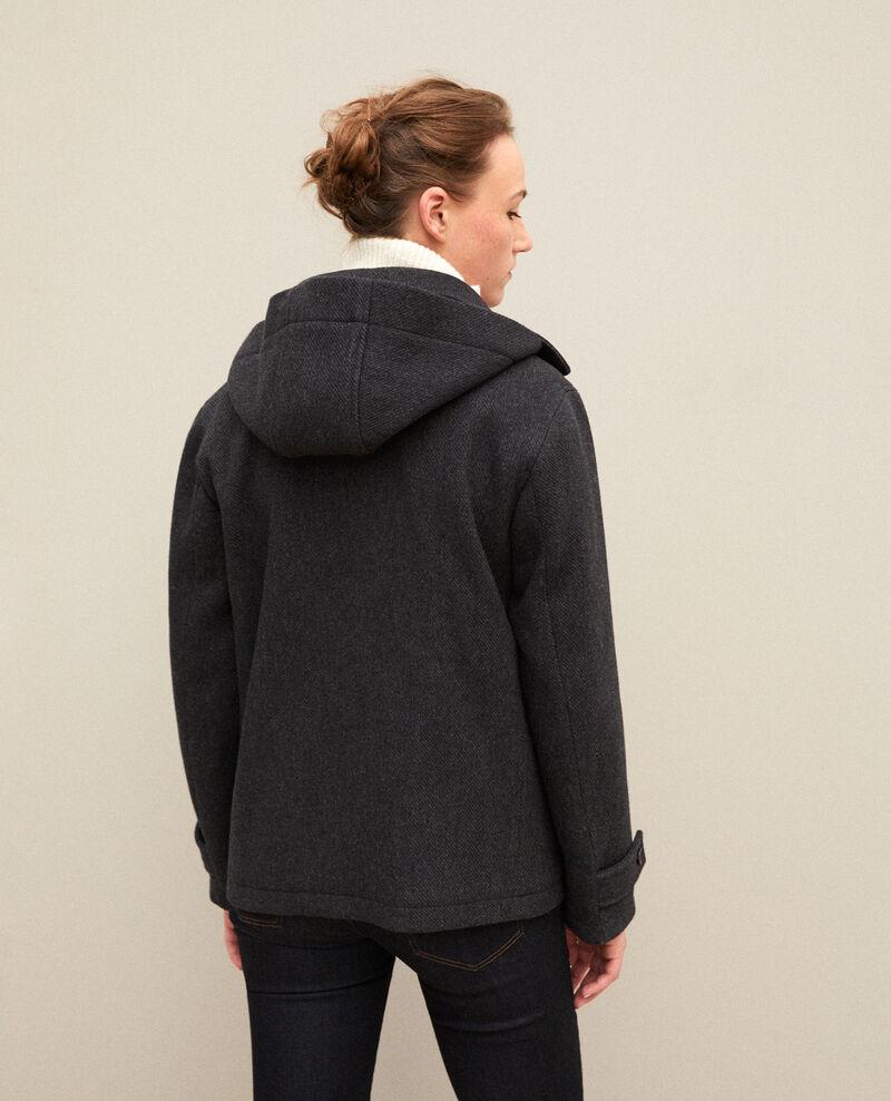 Short duffle coat Dark heather grey Gouziern