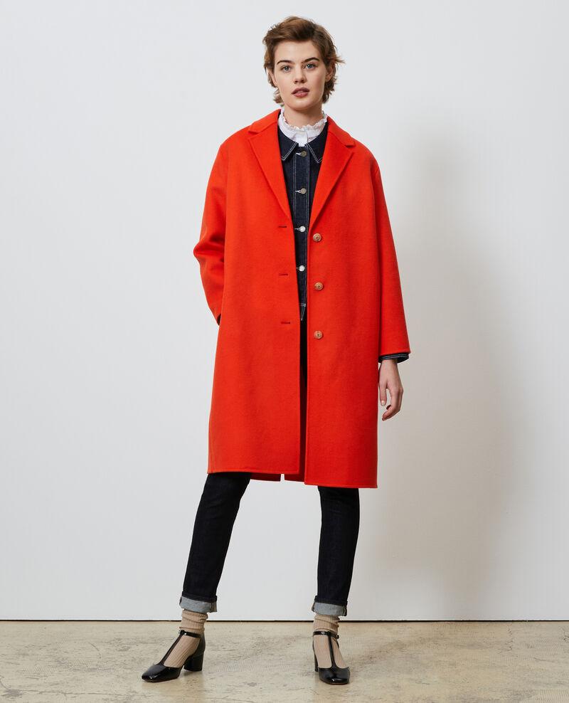 Wool coat Spicy orange Maclas