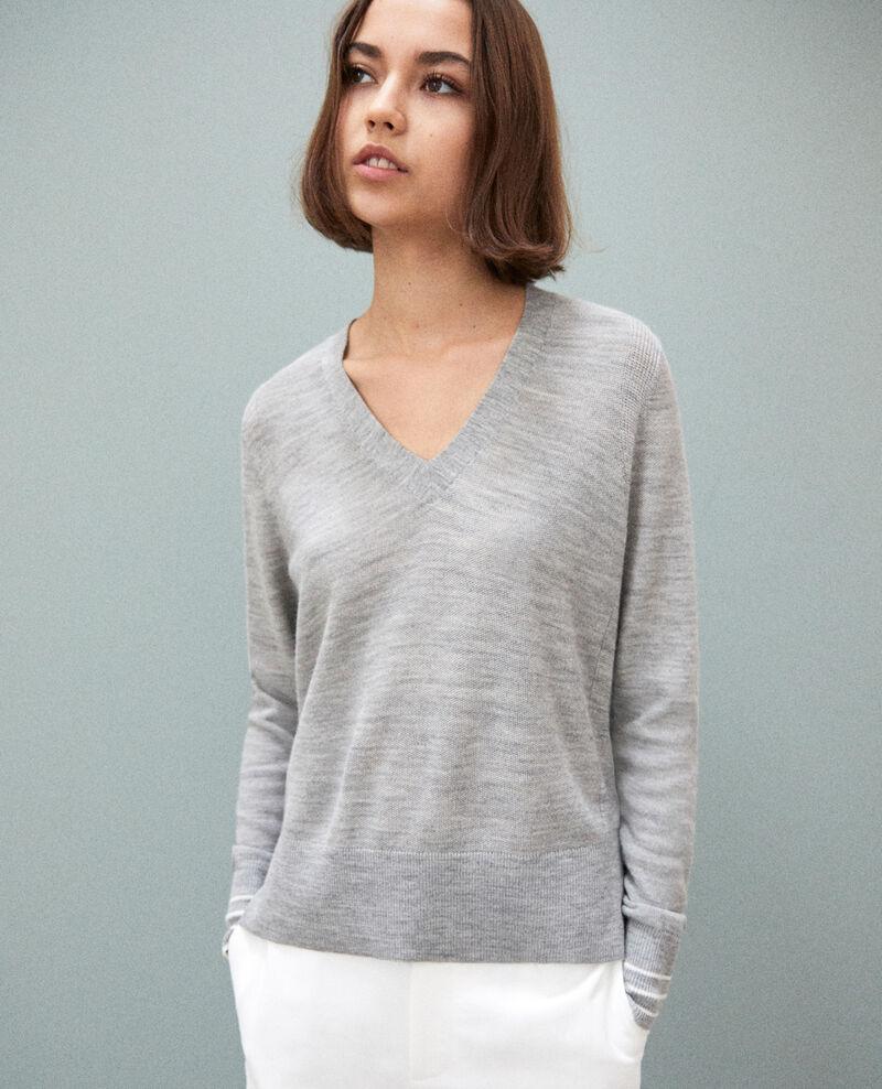 Wool jumper Light grey Idile
