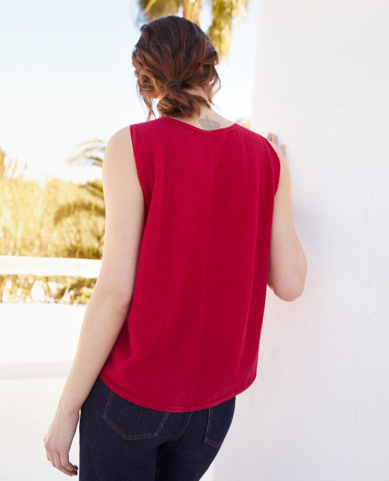 3D cotton vest Fushia Iranka