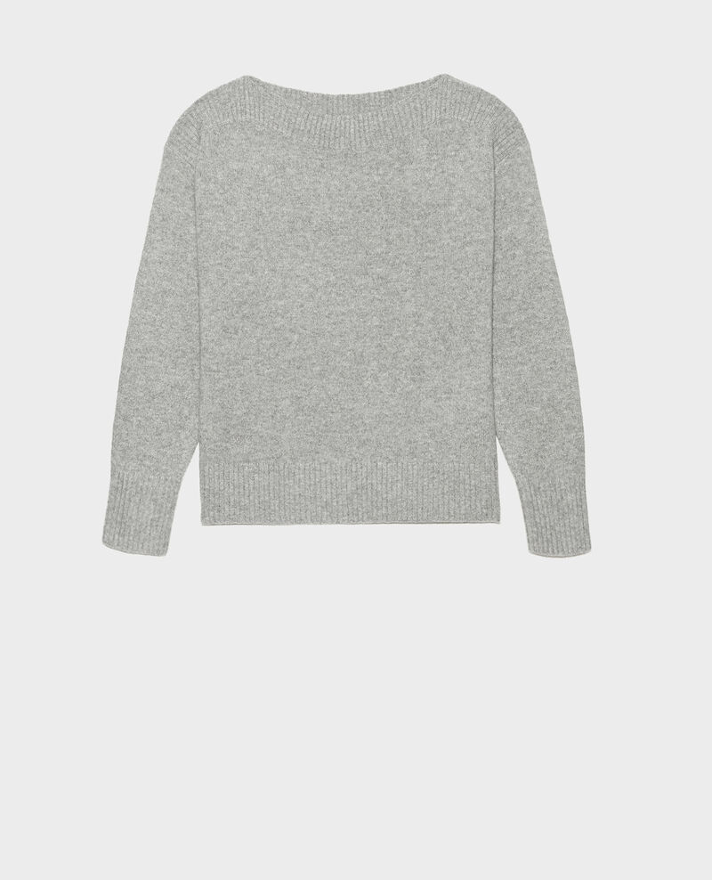 Cashmere boatneck jumper Light grey melange Matelot