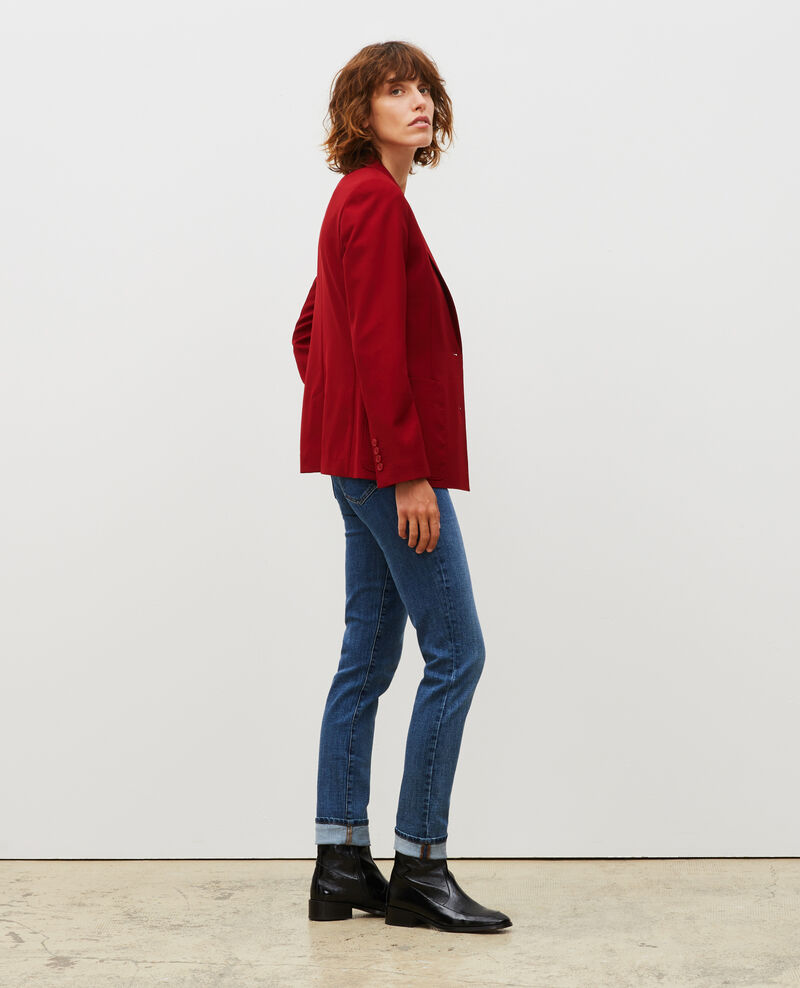 Fitted wool boyfriend blazer Royale red Mesanger