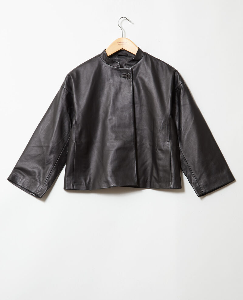 Leather jacket Noir Ipple