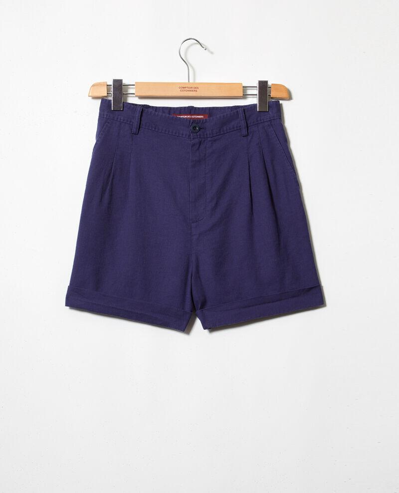 Linen blend bermuda shorts Sapphire navy Ipote
