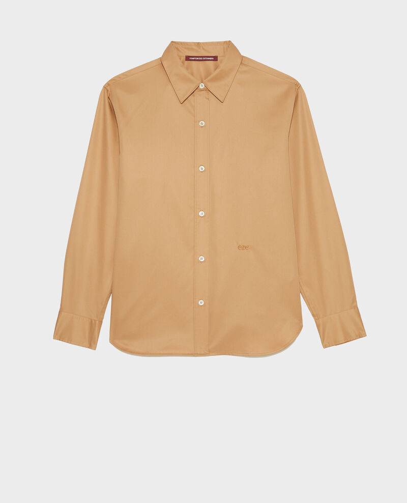 Supima cotton boyfriend shirt Latte Mynde