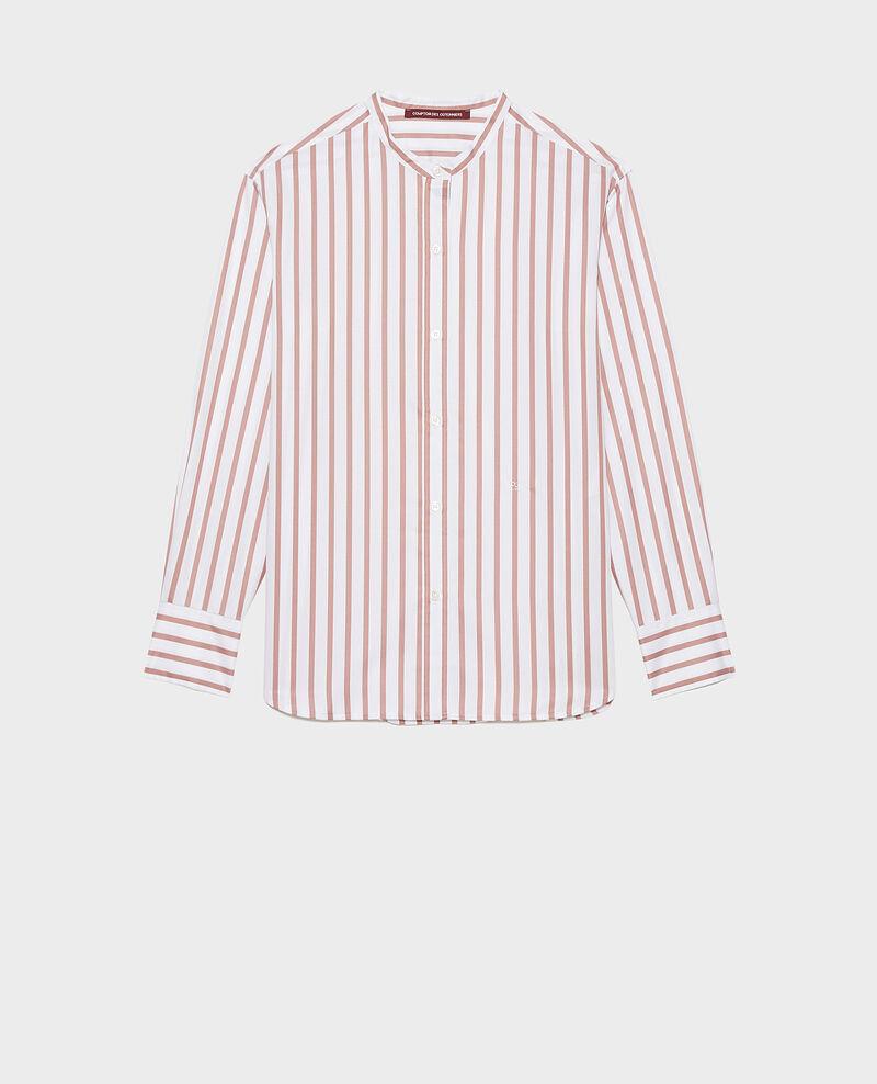 Round neck cotton shirt Deauville stripe Nannion