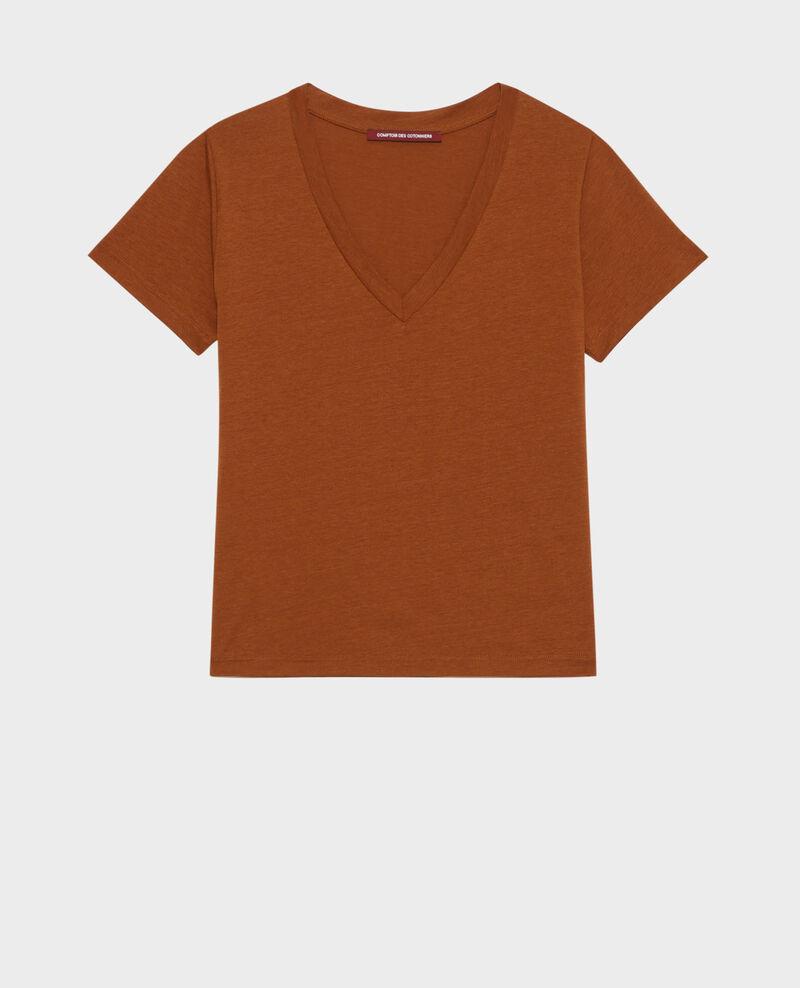 Loose V-neck t-shirt Monks robe Paberne