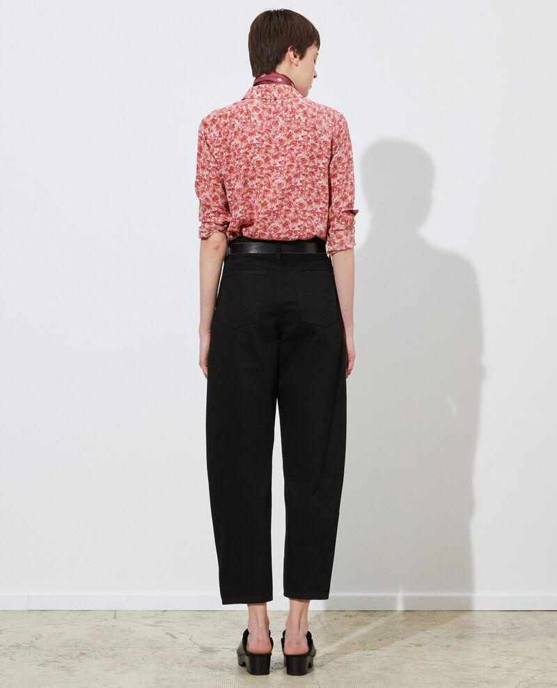 SYDONIE - BALLOON - Wide high-waisted 7/8 jeans Noir denim Palloono