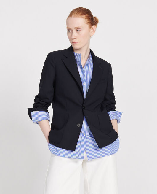 Wool blazer DARK NAVY