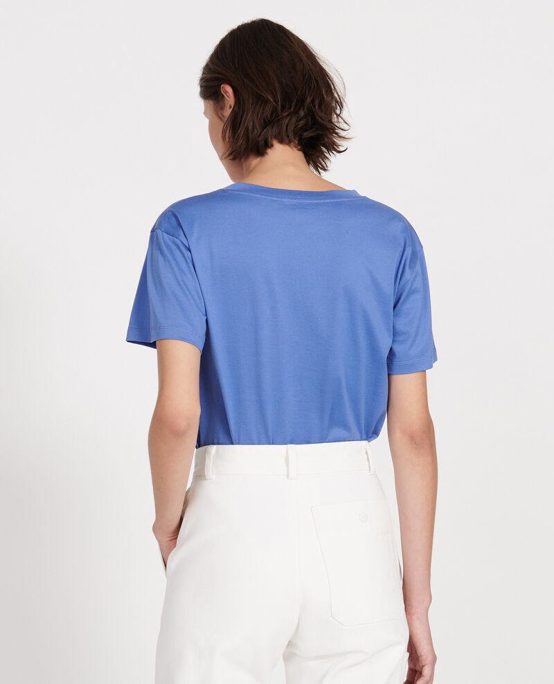 V-neck cotton t-shirt Amparo blue Laberne