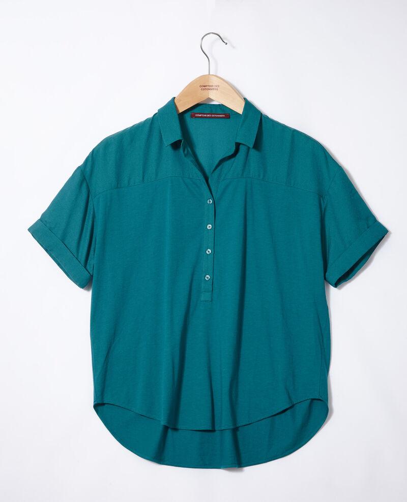 Bimaterial shirt Harbor blue Gaite