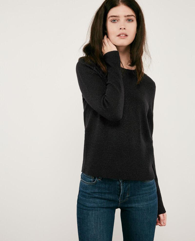 Shimmering wool and lurex jumper Noir Doupida