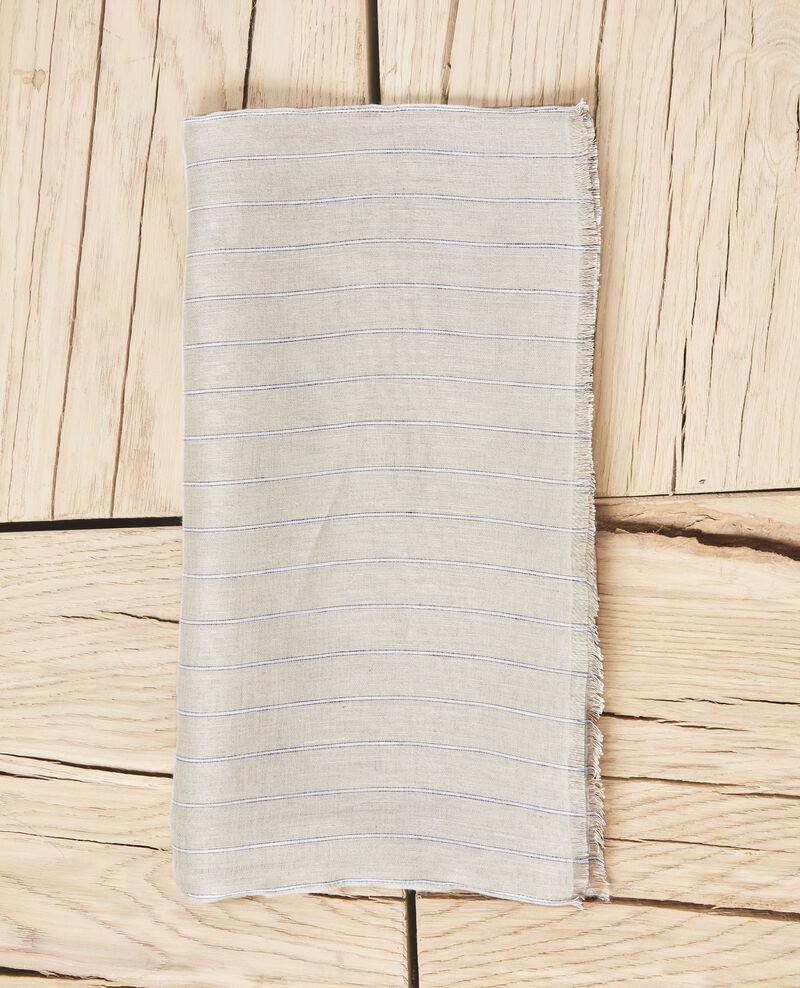 Linen blend scarf Sand beige Icla