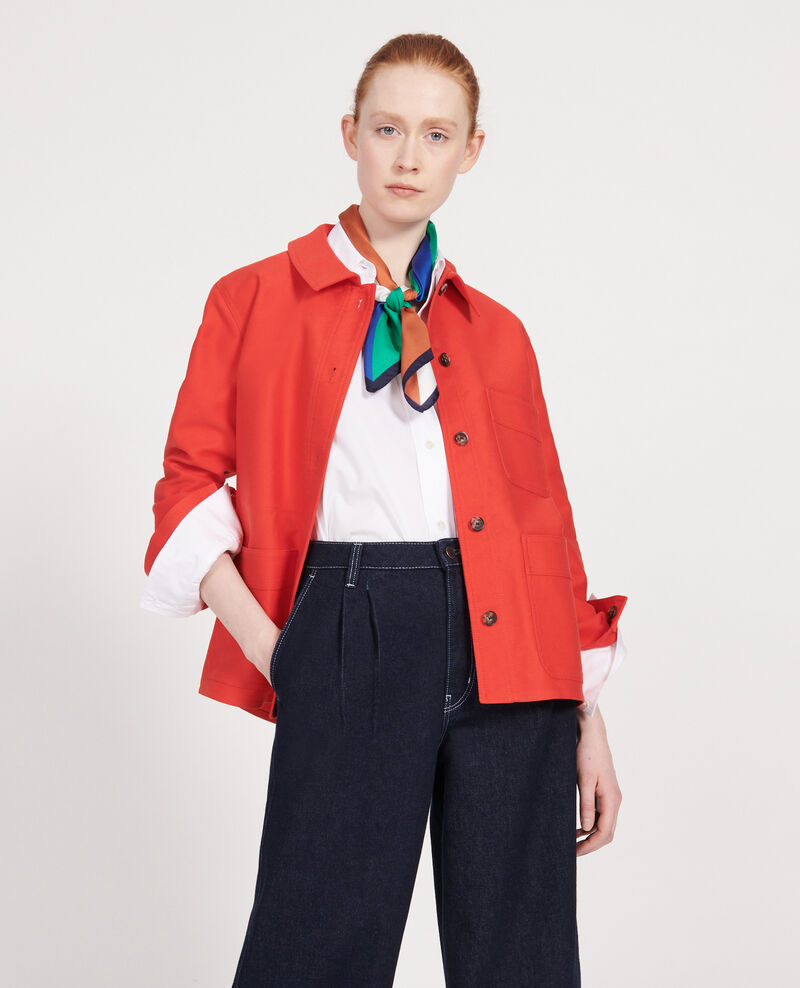 Cotton jacket Fiery red Louatre