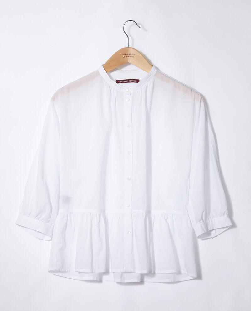 Peplum blouse White Garniture