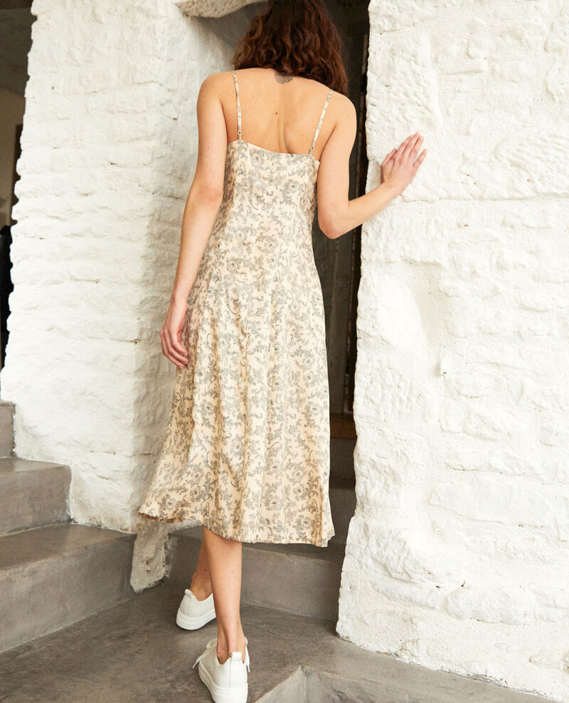 Silk blend dress Bandana light beige Ibriel