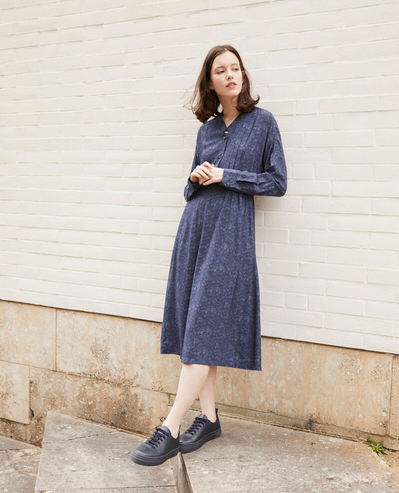 Printed dress Blue Geviana