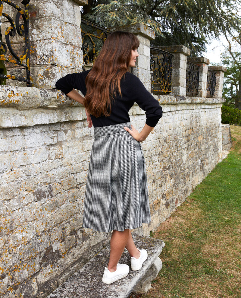 Flannel houndstooth midi skirt  Houndtooth Jistille