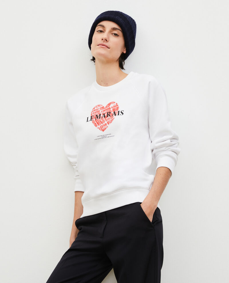 Fleece sweatshirt Brilliant white Madeleina