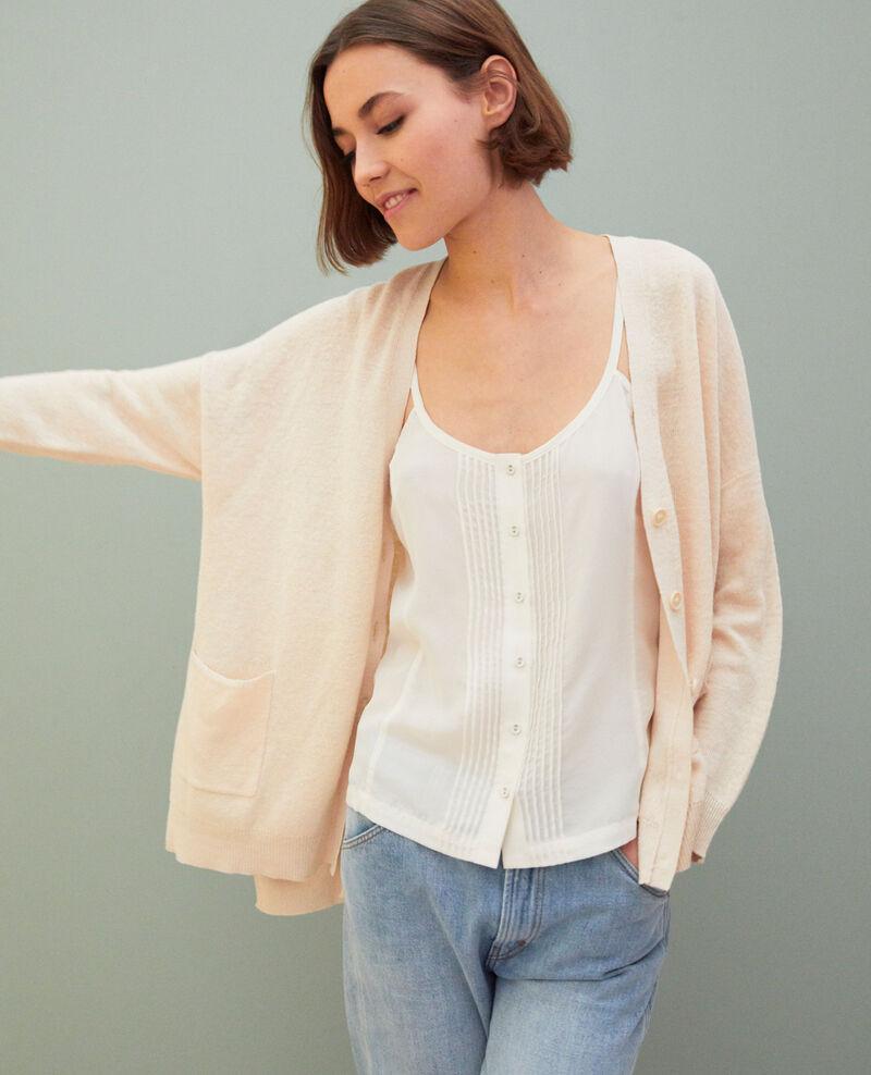 sélection premium 95c7d 65199 Gilet femme oversize en lin couleur Beige - Ilubi | Comptoir ...