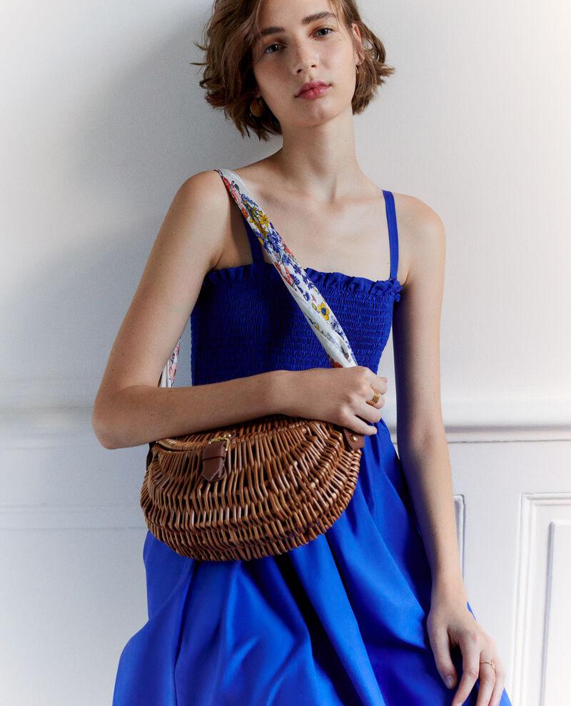 Cotton and silk maxi dress Royal blue Nassandrou