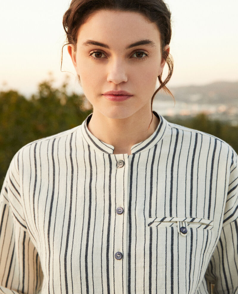Striped shirt Off white/navy stripes Francine