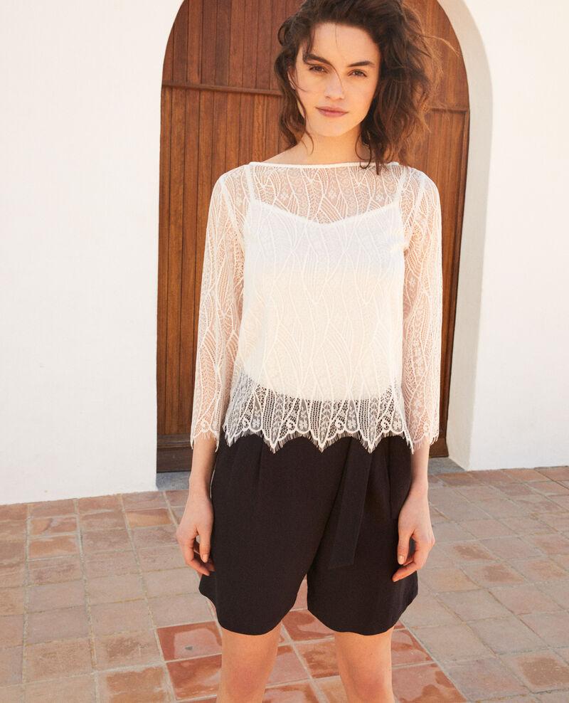 Lace blouse  Off white Ilanka