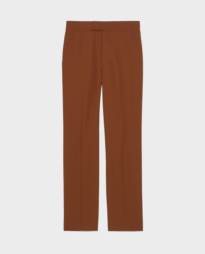 Smooth wool straight trousers Monks robe Lisabelle