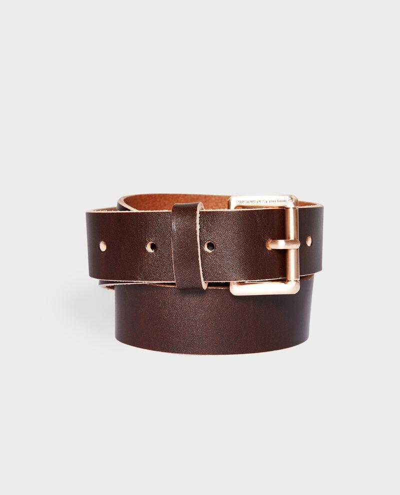 Classic leather belt Cappuccino Noyau
