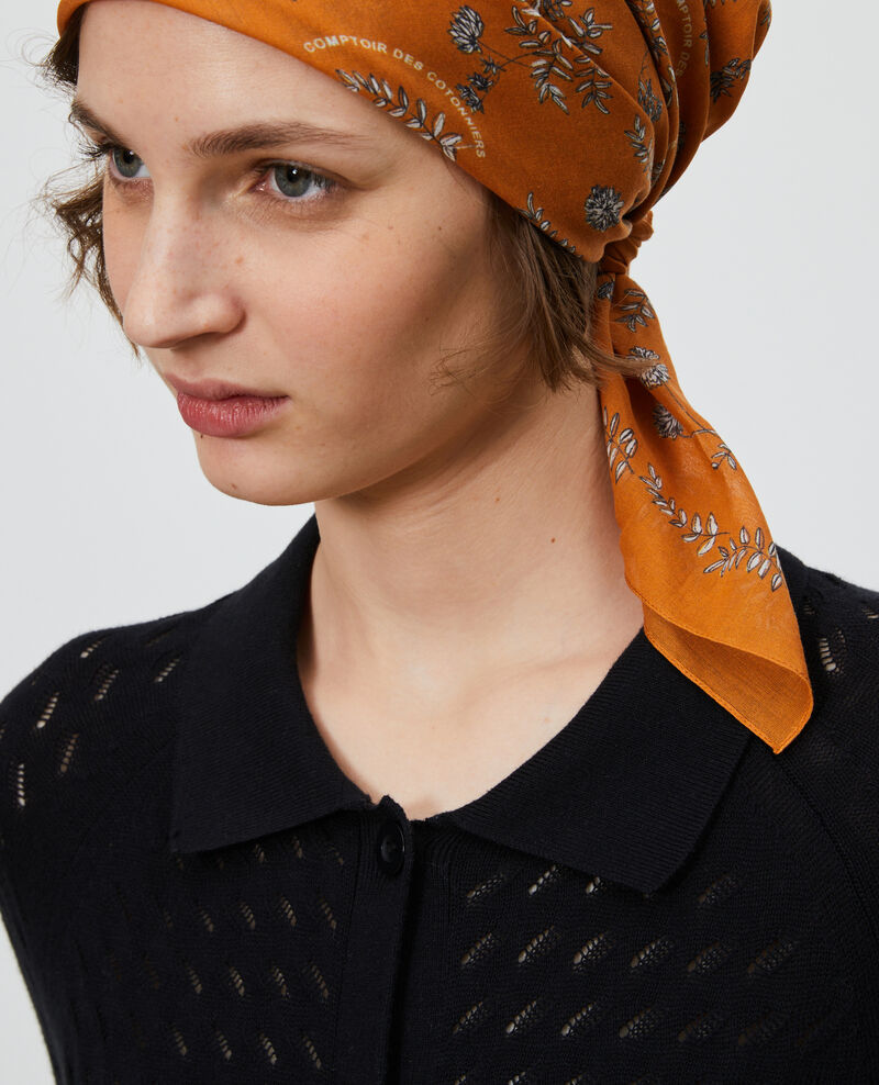 Printed cotton bandana Pumpkin spice Noronille