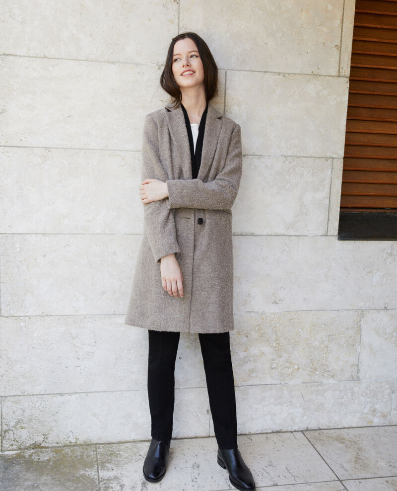 Straight fit coat Beige Gitchina