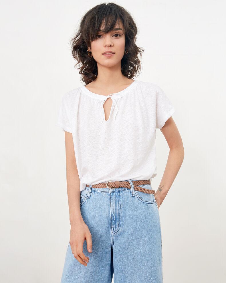 Linen T-shirt Blanc Flabi