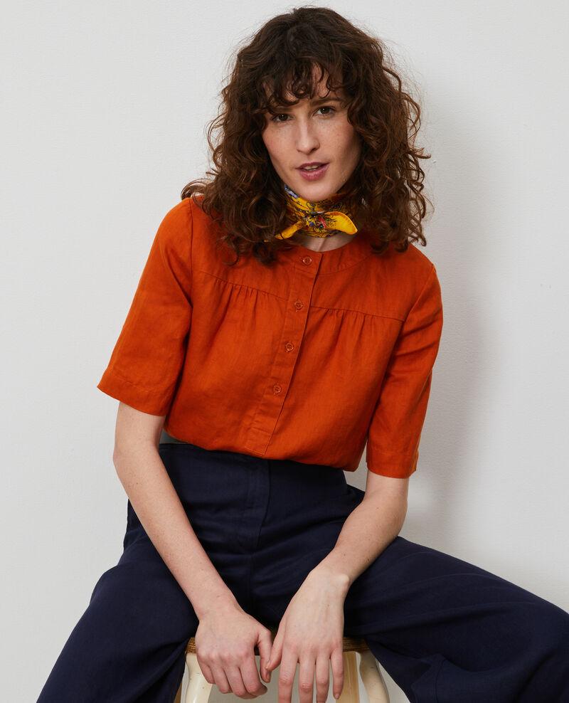 Linen blouse Gold flame Lantoine