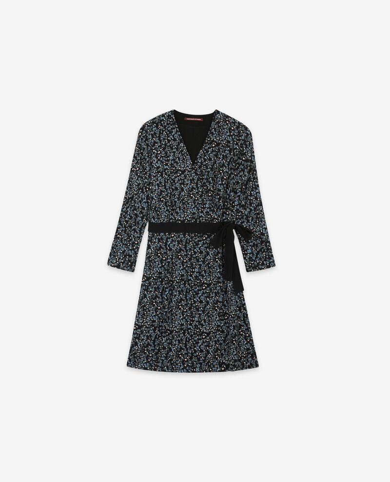 Printed wrapover dress Wildcat black Darleville