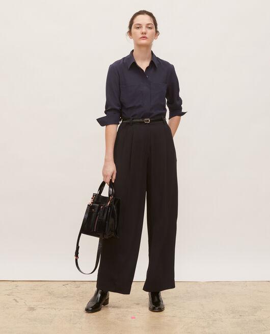 High waisted wide trousers BLACK BEAUTY