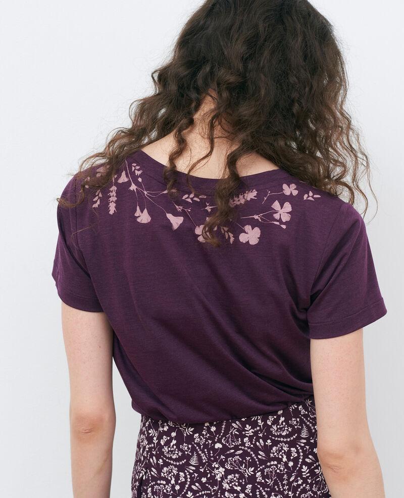 Loose round neck t-shirt Potent purple Preaux