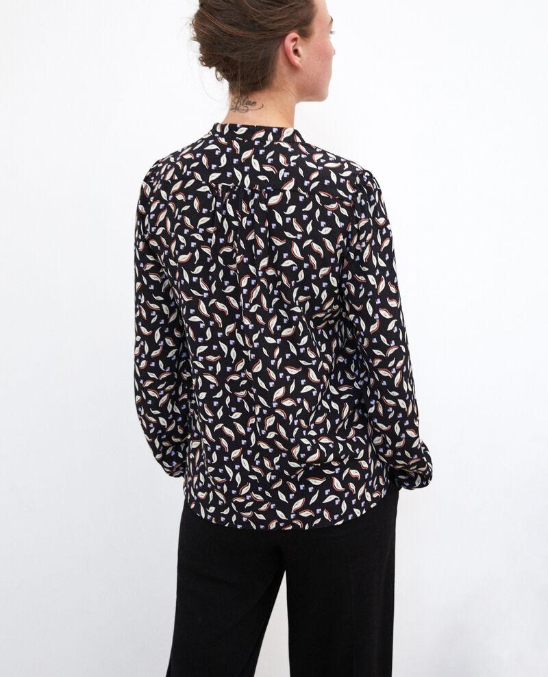 Henley blouse Black Gaela