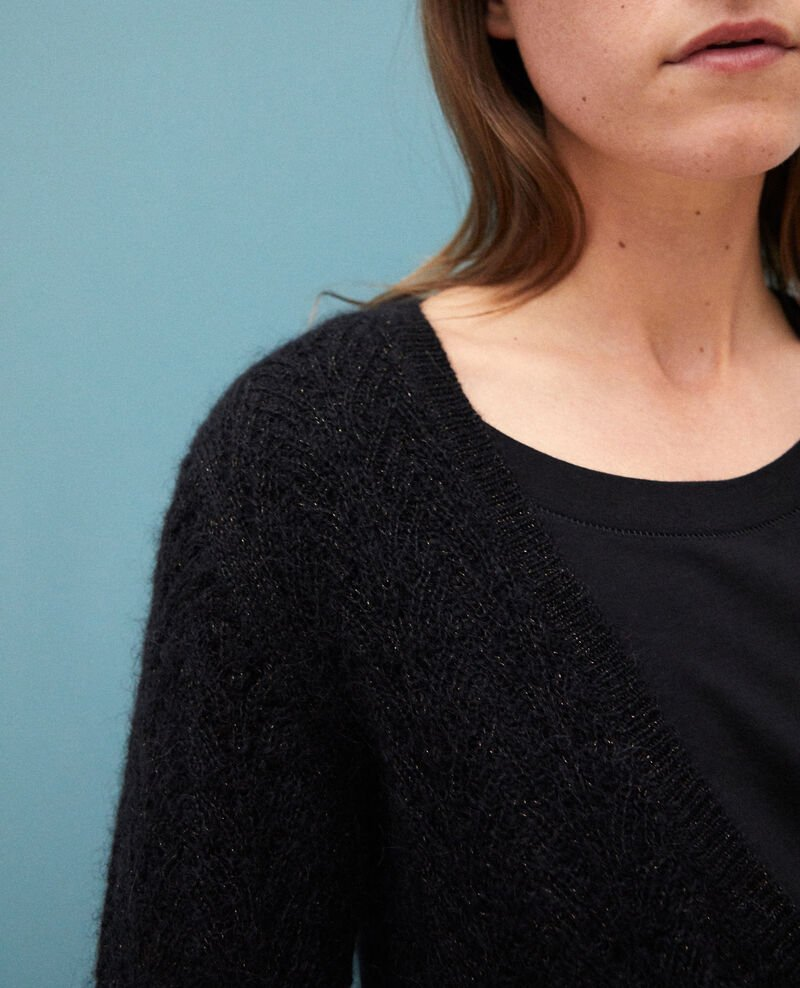 Mohair blend cardigan Noir Grisette