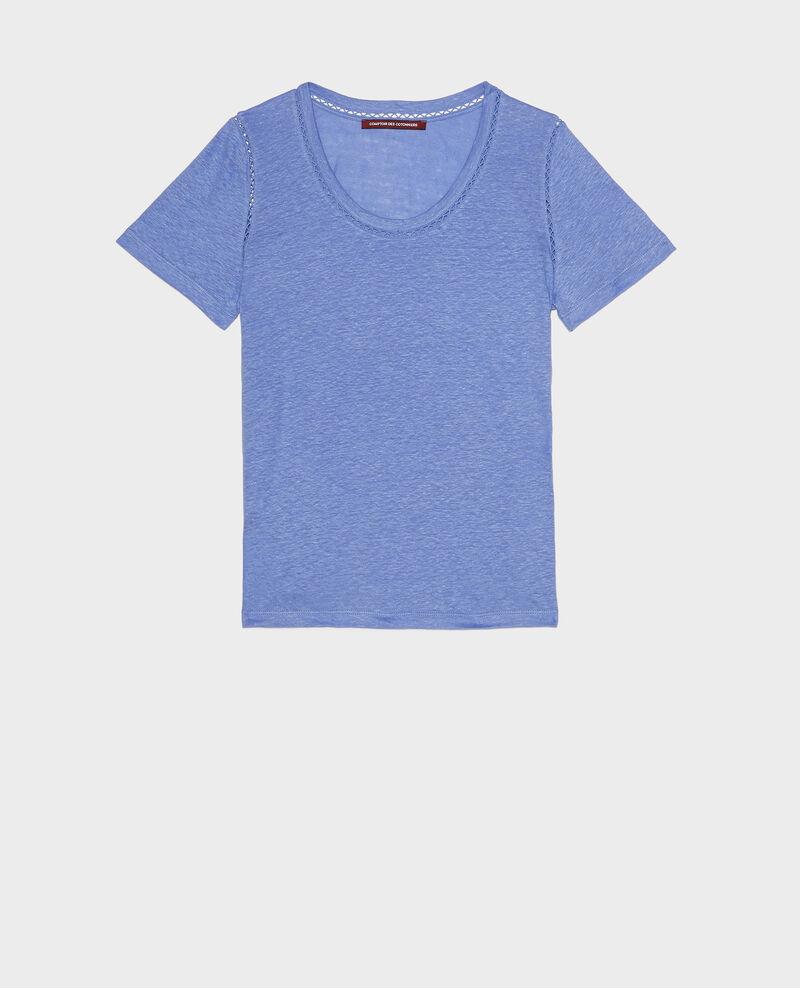 Linen jersey T-shirt Persian jewel Lye