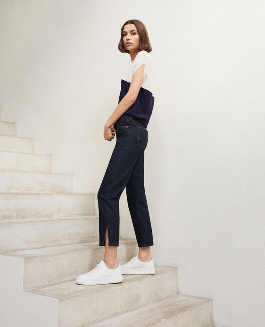 Straight jeans with slits RINSE
