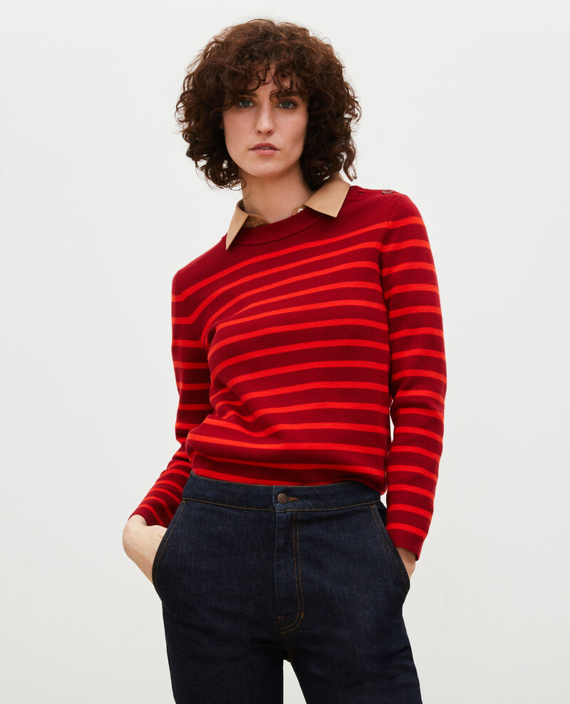 MADDY - Striped wool jumper Str_ryr_fyr Liselle